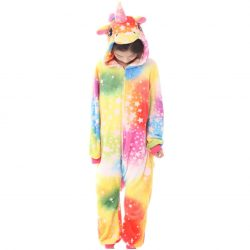 Combinaison Kigurumi Licorne Multicolore Enfant de face