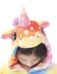 Corne de licorne multicolore enfant