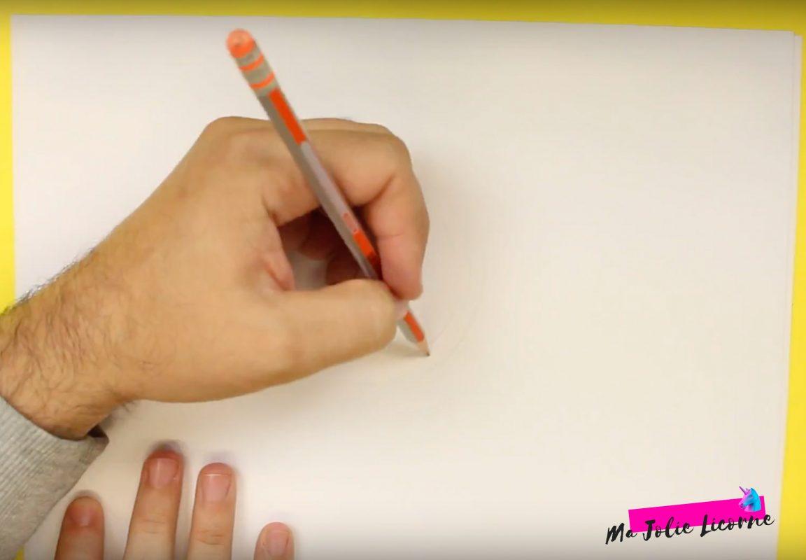 Comment dessiner une licorne facilement - Dessin kawaii licorne