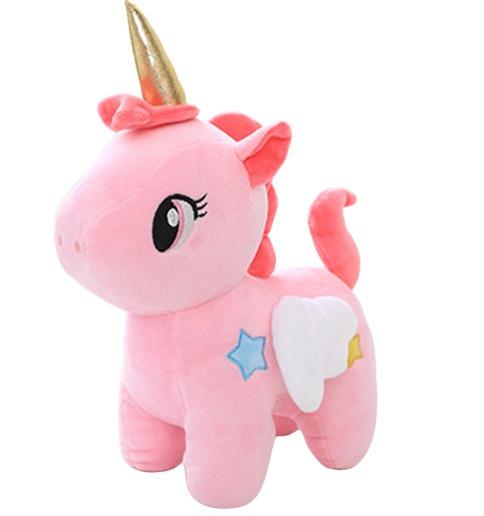 Licorne en peluche rose - ma jolie licorne