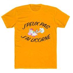 j'peux pas j'ai licorne - t shirt orange