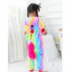 pyjama licorne arc en ciel de dos | Ma Jolie Licorne