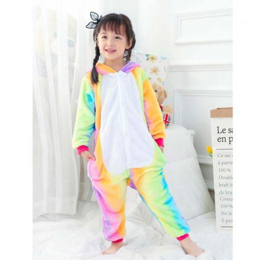 pyjama licorne arc en ciel de face | Ma Jolie Licorne