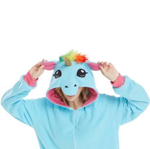 pyjama licorne bleu de face - ma jolie licorne