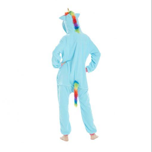 pyjama licorne bleu dos - ma jolie licorne
