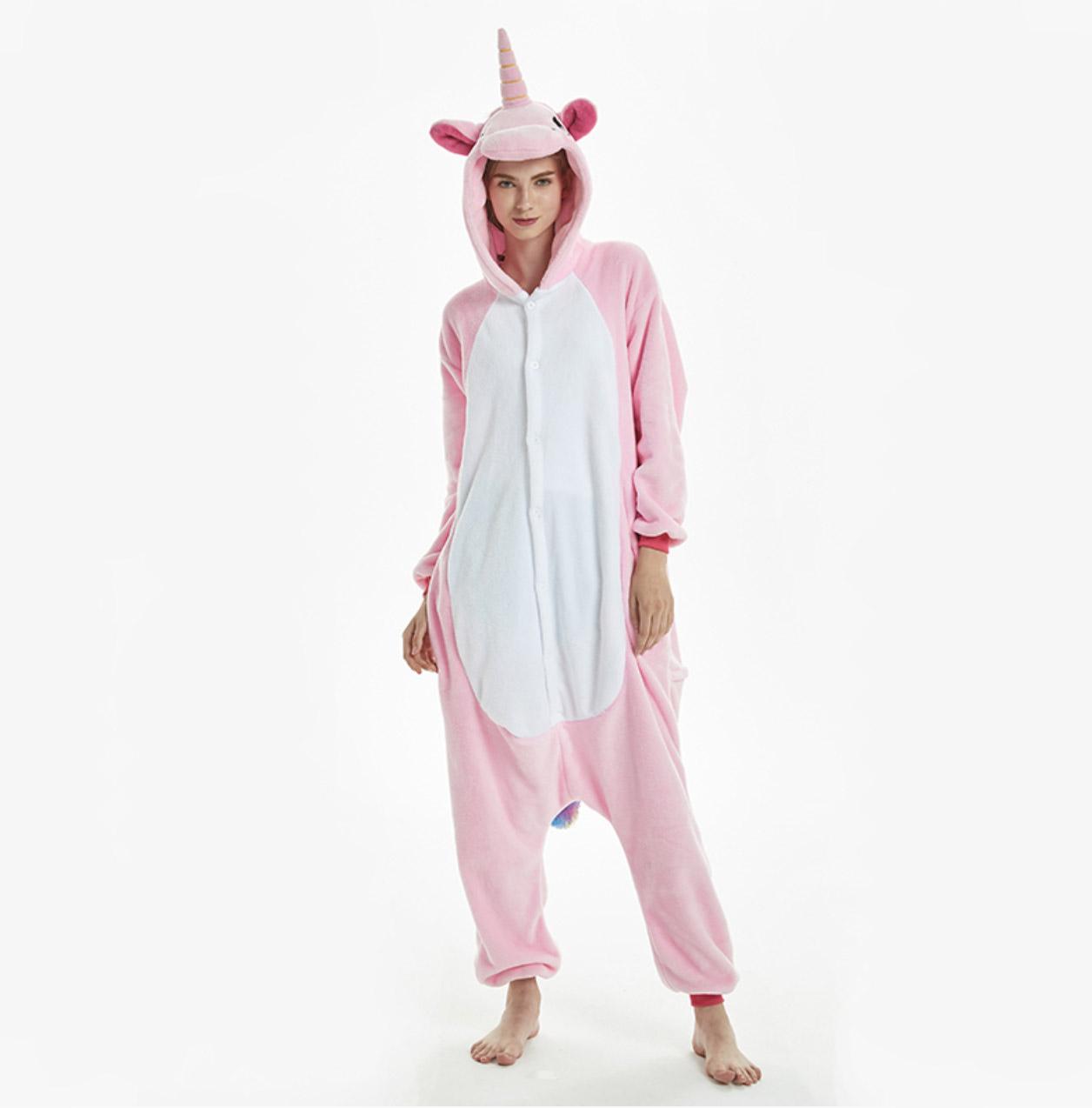pyjama licorne rose de face