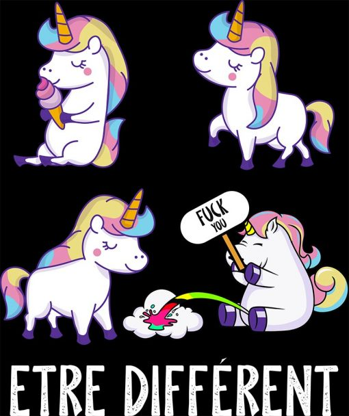 zoom t shirt licorne Fuck You | Ma Jolie Licorne
