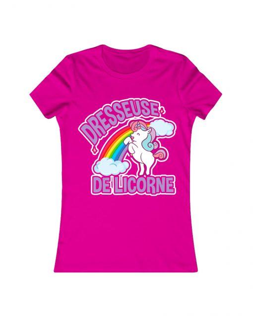 Dresseuse de licorne | T Shirt rose |Ma Jolie Licorne