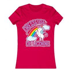 Dresseuse de licorne | T Shirt rouge |Ma Jolie Licorne