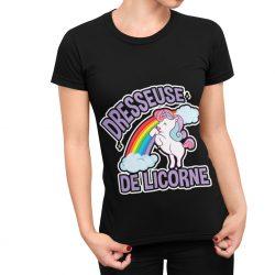 T-shirt dresseuse de licorne femme