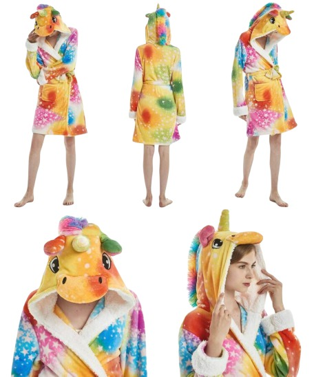 Robe de chambre licorne fille détails ma jolie licorne