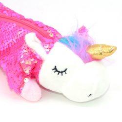 Trousse licorne peluche rose tête - Ma Jolie Licorne