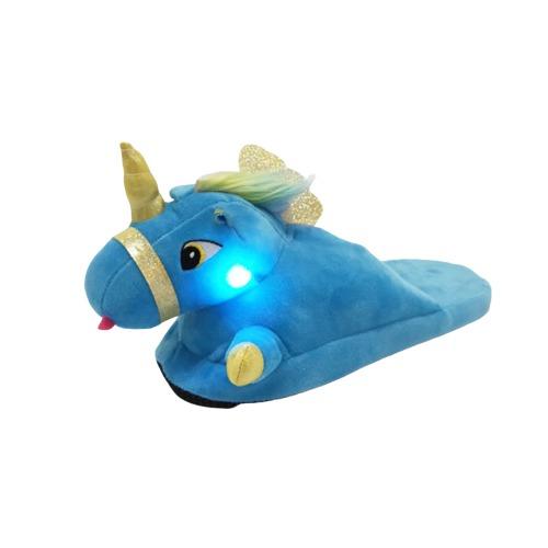 chaussons licorne lumineux bleus | Ma Jolie Licorne