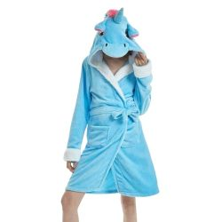 Robe de chambre licorne femme bleue | Ma Jolie Licorne