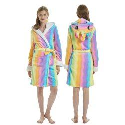 Robe de chambre licorne femme multicolore dos et face| Ma Jolie Licorne