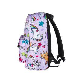 sac à dos licorne pour fille- bleu profil | Ma Jolie Licorne
