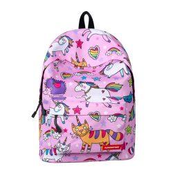 sac à dos licorne pour fille-rose de face |Ma Jolie Licorne