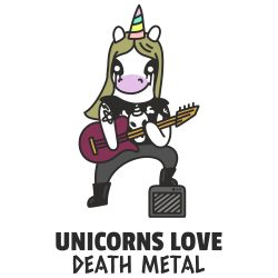 Death metal licorne