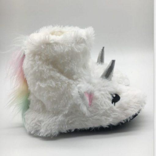 chausson souple licorne pour enfant blanc