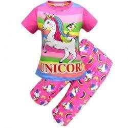 Pyjama motif licorne fille violet