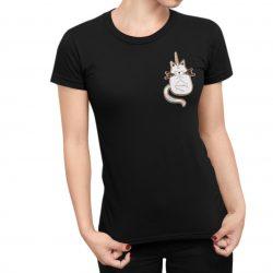 T-Shirt Femme chat licorne