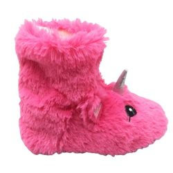 chausson souple licorne pour enfant fushia
