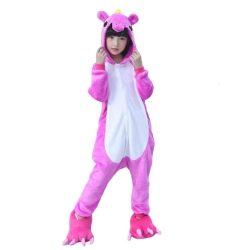licorne rose pyjama de face