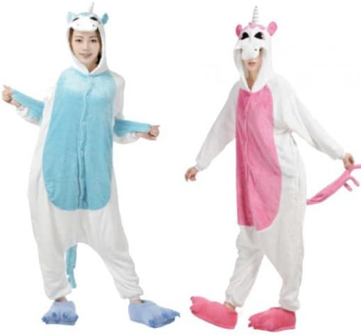 Pyjama Licorne Bleu ou Rose Adulte