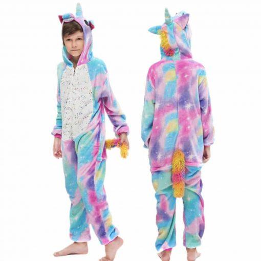 Pyjama Licorne Garçon Multicolore